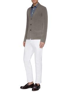 Altea Notched lapel linen-cotton cardigan