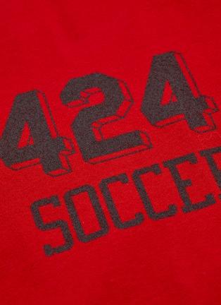 - 424 - 'Soccer' slogan logo print T-shirt