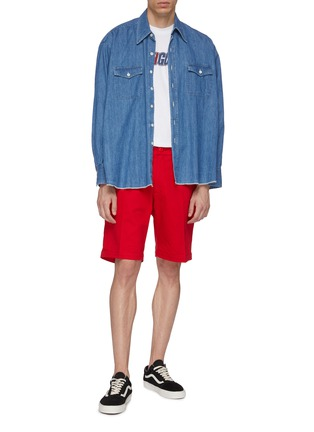 Figure View - Click To Enlarge - NOON GOONS - 'Club' twill shorts