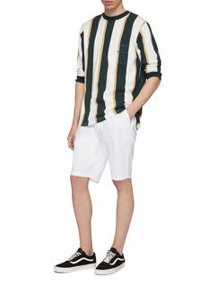 Noon Goons Logo embroidered chest pocket stripe sweatshirt