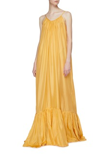Kalita 'Brigitte' ruched hem silk maxi dress