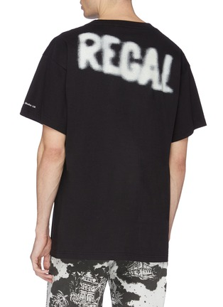 Back View - Click To Enlarge - VYNER ARTICLES - 'Regal' slogan print organic cotton T-shirt