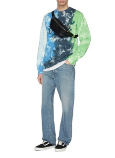 Vyner Articles Logo print tie-dye effect organic cotton sweatshirt