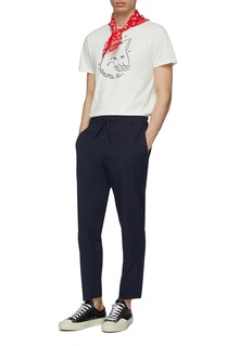 Maison Kitsuné 'Ancora Tu' slogan fox head print T-shirt