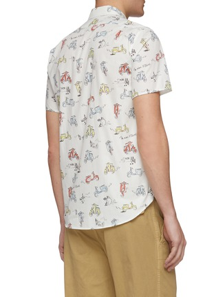 Back View - Click To Enlarge - MAISON KITSUNÉ - Scooter graphic print short sleeve shirt