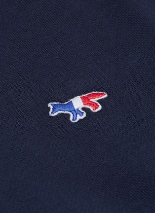 - Maison Kitsuné - Fox logo appliqué colourblock shoulder teddy jacket