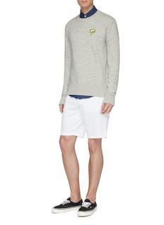 Maison Kitsuné Lemon logo appliqué cotton-linen sweatshirt