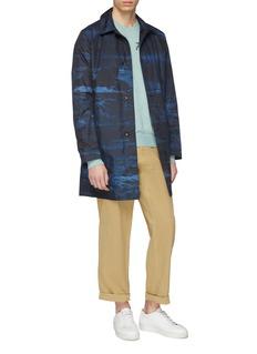 PS Paul Smith Reversible stroke print mackintosh coat