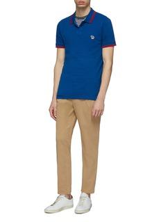 PS Paul Smith Zebra appliqué stripe border polo shirt