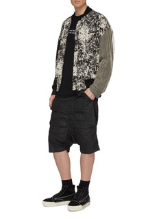 Song for the Mute Patchwork marble effect bomber jacket
