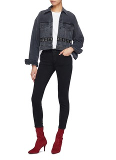 3x1 Detachable hook-and-eye hem oversized denim jacket
