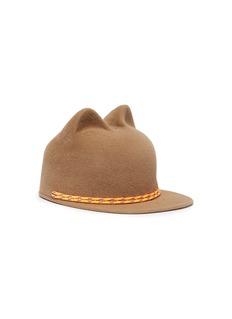 Maison Michel 'Jamie' cord cat ear rabbit furfelt cap