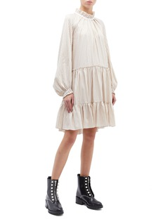 3.1 Phillip Lim Ruffle trim stripe tiered dress