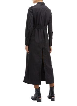 Back View - Click To Enlarge - 3.1 PHILLIP LIM - Detachable waist tab long shirt jacket