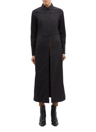 Main View - Click To Enlarge - 3.1 PHILLIP LIM - Detachable waist tab long shirt jacket