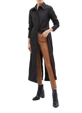 Figure View - Click To Enlarge - 3.1 PHILLIP LIM - Detachable waist tab long shirt jacket
