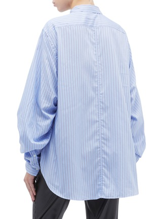 Back View - Click To Enlarge - 3.1 PHILLIP LIM - Ruched sleeve stripe shirt