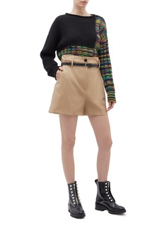 3.1 Phillip Lim Belted virgin wool paperbag shorts