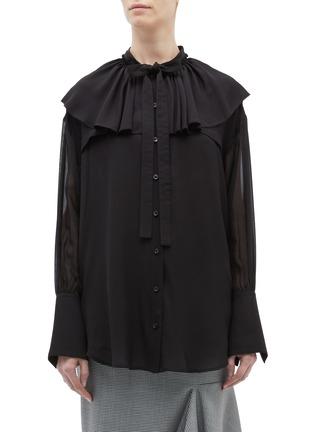 Main View - Click To Enlarge - 3.1 Phillip Lim - Ruffle yoke silk pussybow shirt