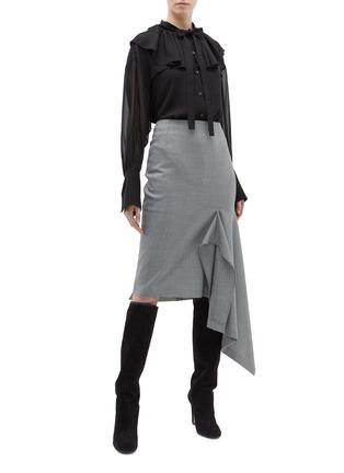 Figure View - Click To Enlarge - 3.1 Phillip Lim - Ruffle yoke silk pussybow shirt