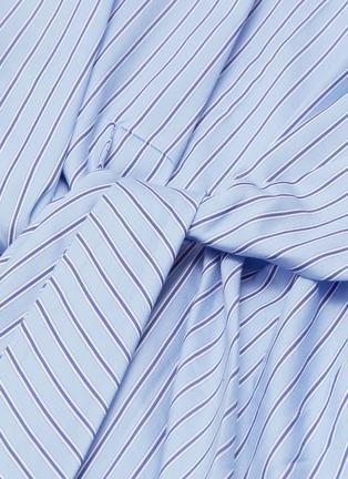 - 3.1 PHILLIP LIM - Tie front stripe top