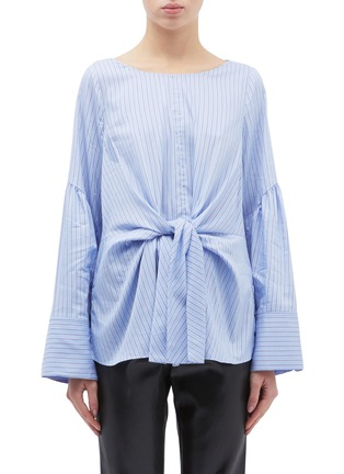 Main View - Click To Enlarge - 3.1 Phillip Lim - Tie front stripe top