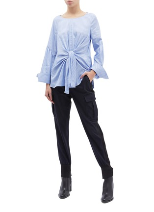 Figure View - Click To Enlarge - 3.1 Phillip Lim - Tie front stripe top