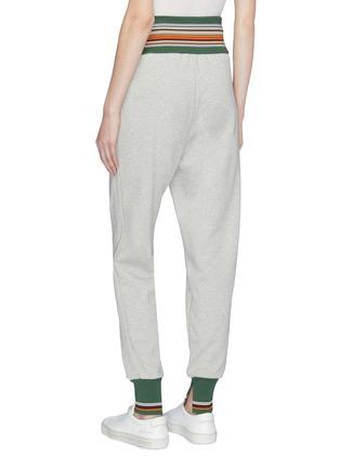 Back View - Click To Enlarge - 3.1 Phillip Lim - Tie waist stripe border jogging pants