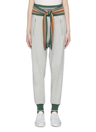 Main View - Click To Enlarge - 3.1 Phillip Lim - Tie waist stripe border jogging pants