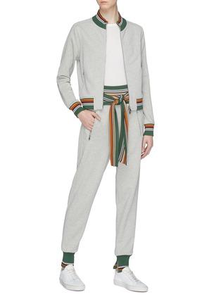 Figure View - Click To Enlarge - 3.1 Phillip Lim - Tie waist stripe border jogging pants