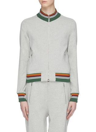 Main View - Click To Enlarge - 3.1 Phillip Lim - Stripe border track jacket
