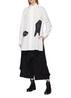 Yohji Yamamoto Zip wrap drape overlay pants
