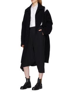 Yohji Yamamoto Slant zip melton coat