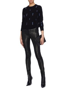 Equipment 'Shirley' lightning bolt embroidered cashmere sweater