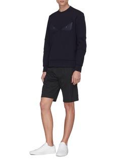 Fendi Sport 'Bag Bugs' leather patch sweatshirt