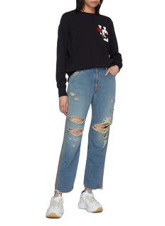 UNDERCOVER Logo rose appliqué sweatshirt