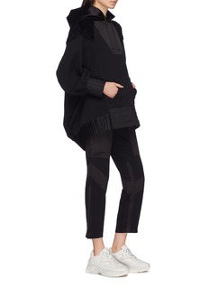 UNDERCOVER Pleated drape back panelled hoodie