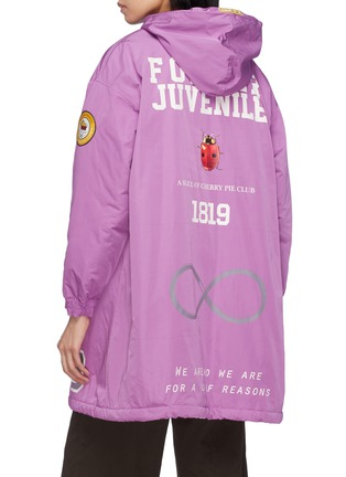 Back View - Click To Enlarge - UNDERCOVER - 'Former Juvenile' slogan graphic print hooded raincoat