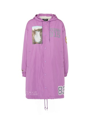 Main View - Click To Enlarge - UNDERCOVER - 'Former Juvenile' slogan graphic print hooded raincoat