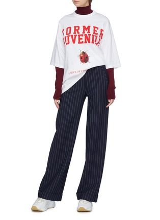 Figure View - Click To Enlarge - UNDERCOVER - 'Ladybug 1819' slogan graphic print oversized T-shirt