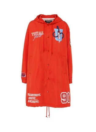 Main View - Click To Enlarge - UNDERCOVER - 'Total Youth' slogan graphic print hooded raincoat