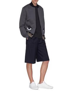 Fendi Sport 'Bag Bugs' contrast hem textured print jacket