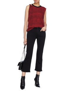 Current/Elliott 'The Kick' frayed cuff cropped flared jeans