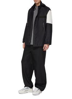 Kiko Kostadinov Asymmetric placket windowpane check shirt