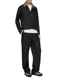 Kiko Kostadinov Asymmetric flap pocket twill jacket