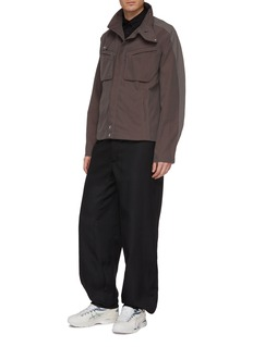 Kiko Kostadinov Zip cuff twill wide leg pants