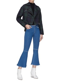 HELEN LEE Contrast topstitching flared jeans
