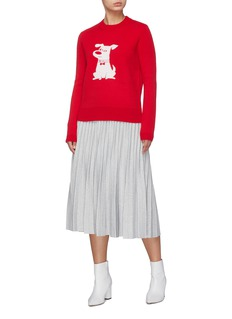 HELEN LEE x The Secret Life of Pets 'Max' dog intarsia sweater