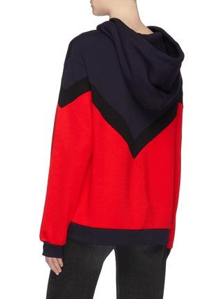 Back View - Click To Enlarge - ÊTRE CÉCILE - 'Aurelia' chevron stripe colourblock oversized hoodie