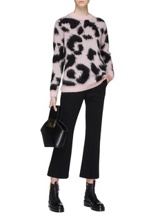 Etre Cecile  Leopard jacquard mohair blend brushed sweater
